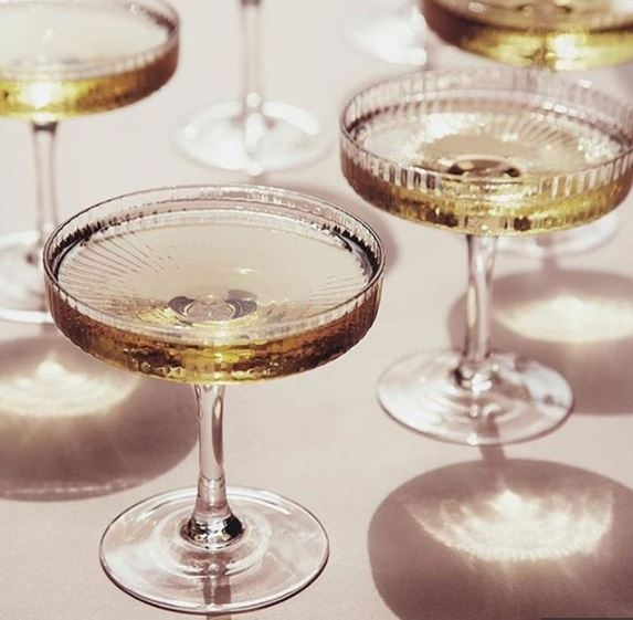 Ripple champagne glazen Ferm Living